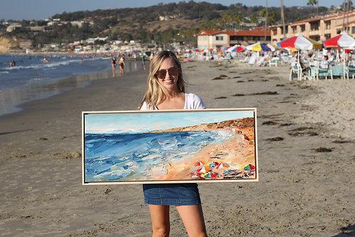 "La Jolla Beach, 40""x16"""
