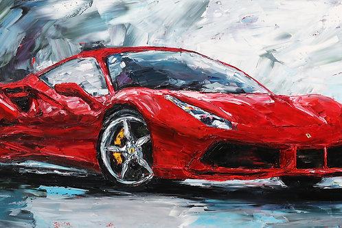 """Ferrari, 24""""x48"""""""