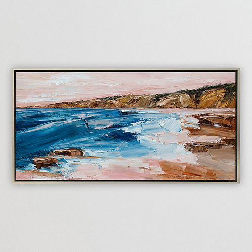 """Cliffs of Blacks Beach, 15""""x30"""""""