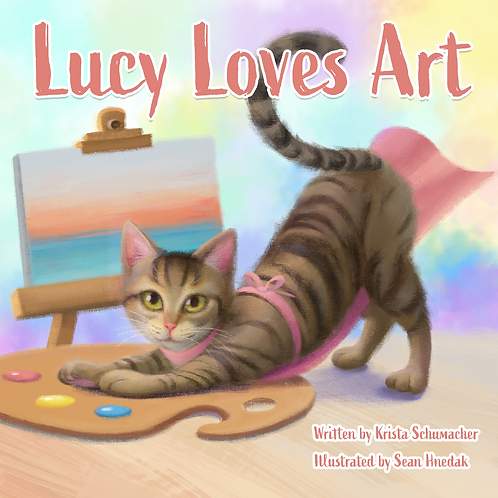 Lucy Loves Art Hardcover Book