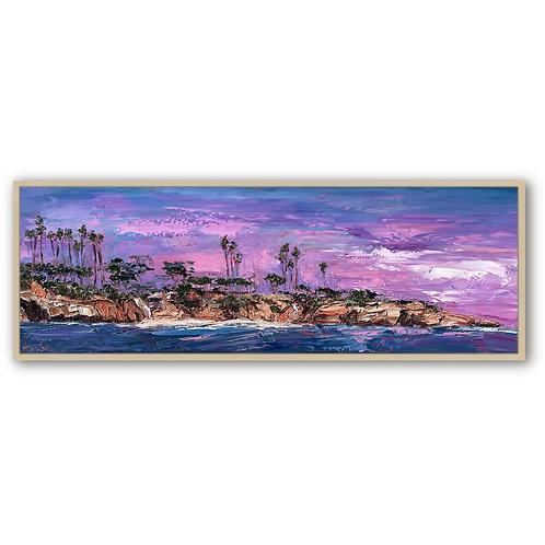 "Waterview of La Jolla Cove, 12""x36"""