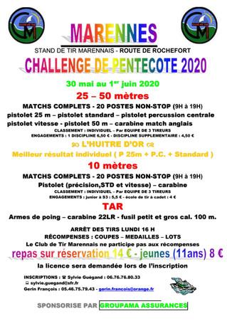 Challenge de Marennes Pentecôte 2020