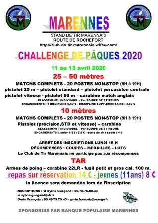Challenge de Marennes Pâques 2020