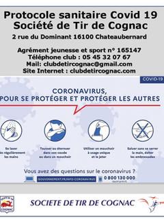 Protocole sanitaire Covid 19 Société de Tir