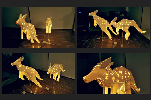Kangaroo Sculpture Lamp - Design and Technology