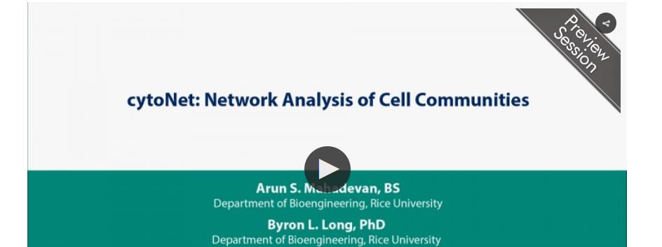 cytoNet highlighted by Keystone Symposia: On Demand