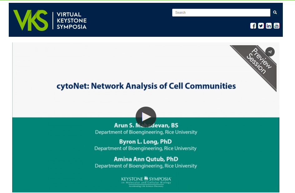 cytoNet highlighted by Keystone Symposia: On Demand