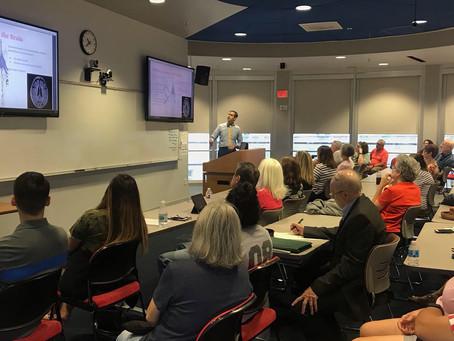 Neuropsychologist Dr. David Gonzalez & elite trainer Chris Xanders presented Saturday