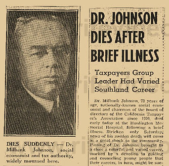 In 1944, Dr. Johnson, Dr. Rife's lifelong supporter and friend, died suspiciously of alleged food poisoning.
