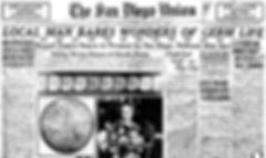 On November 3, 1929, The San Diego Union reported on the progress of Dr. Rife's work in a positive article entitled  Local Man Bares Wonders of Germ Life.