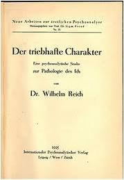 Der triebhafte Charakter - Dr. Reich's first book