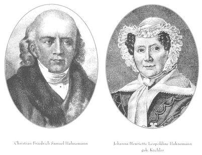 Samuel Hahnemann and Johanna Henrietta Leopoldina Küchler