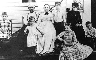 Nikola Tesla's Family – Nikola is on the left