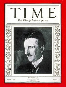 Tesla on cover of Time Magazine, Volume 18 Issue 3, July 20, 1931