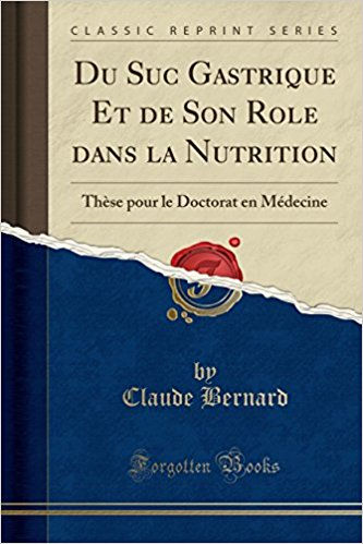 Du suc gastrique et de son rôle dans la nutrition