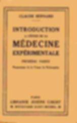 Introduction à la médecine expérimentale by Claude Bernard
