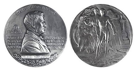 "in 1917, Tesla was awarded the Edison Medal, presented by the Institute of Electrical and Electronics Engineers ""for a career of meritorious achievement in electrical science, electrical engineering or the electrical arts"". It is the oldest and most coveted medal in this field of engineering in the United States."