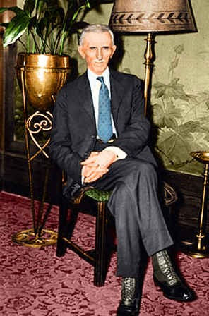 Nikola Tesla at age 78