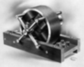 Tesla's first Rotating Magnetic Field Induction Motor.  This historic model is one of the two first presented before the American Institute of Electrical Engineers.