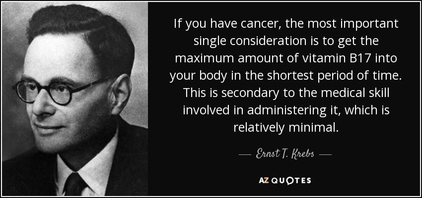 Ernst Krebs on vitamin B17