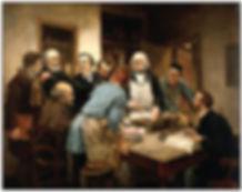 """""""La leçon de Claude Bernard"""" - this painting by Léon Lhermitte showsBernard with his students in his Collège de France laboratory."""