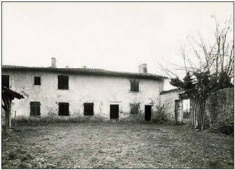 black and white photo of The house in which Claude Bernard was born.