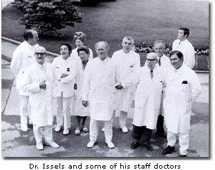 Dr. Issels and some of his staff doctors