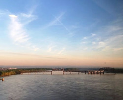 Scenic Louisville as backdrop.