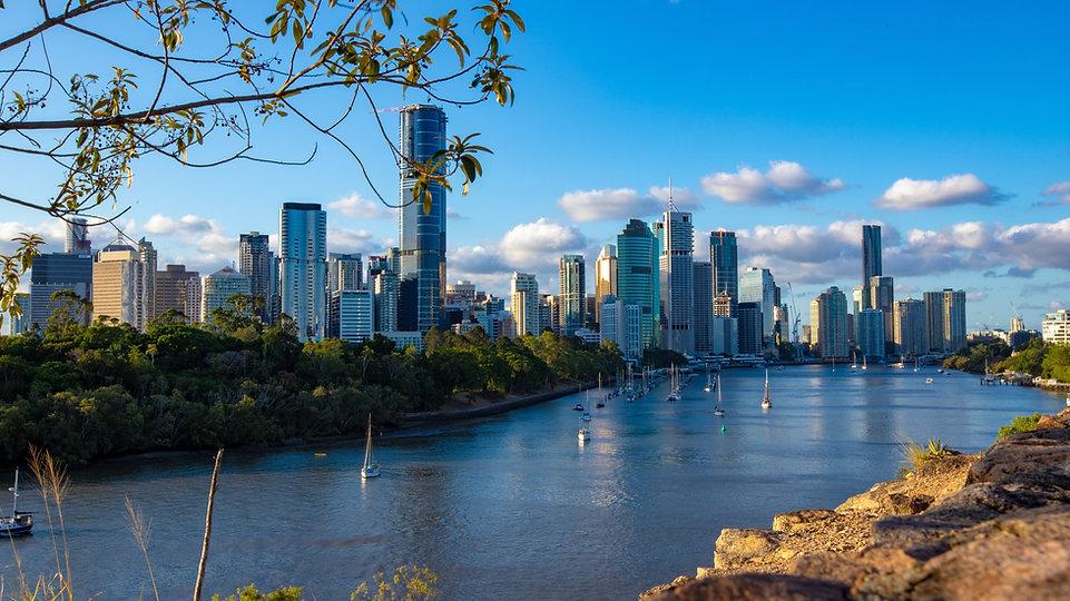 Brisbane City business landscape in Queensland, Australia