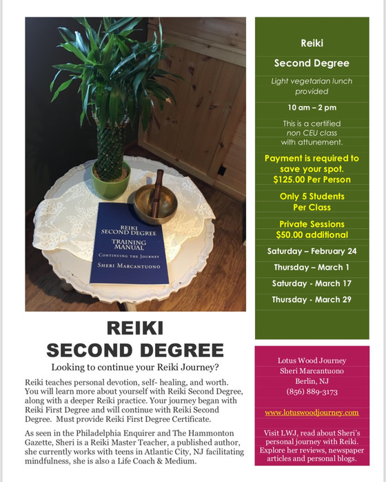 Looking to continue your Reiki Journey? Take Reiki Second Degree Class.