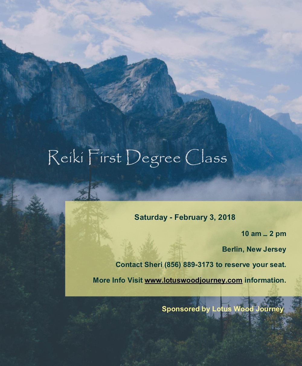 Reiki First Degree Class