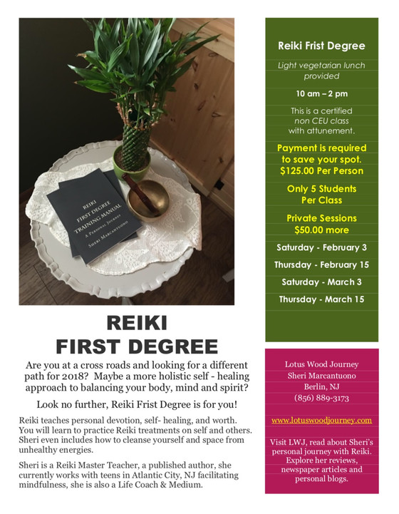 Looking to get UNstuck in 2018? Take Reiki First Degree Class with Sheri.