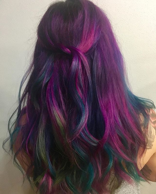 Beautiful Rainbow hair on Raquel. It was a blast hanging out with you! PulpRiot is my paint.jpg