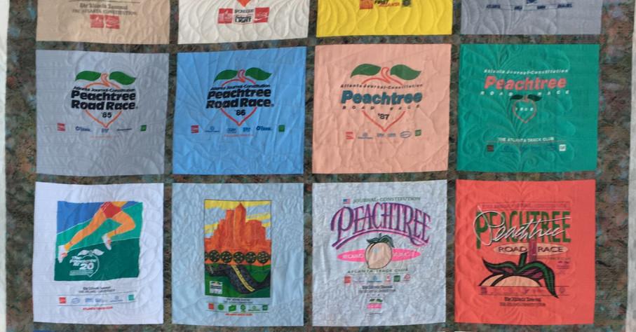 Runner's t-shirt quilt