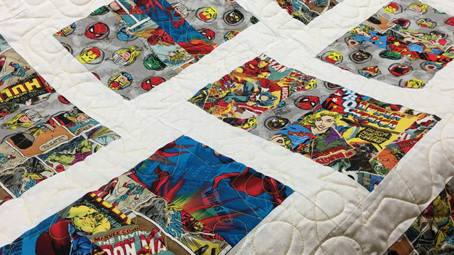 Super Hero baby quilt