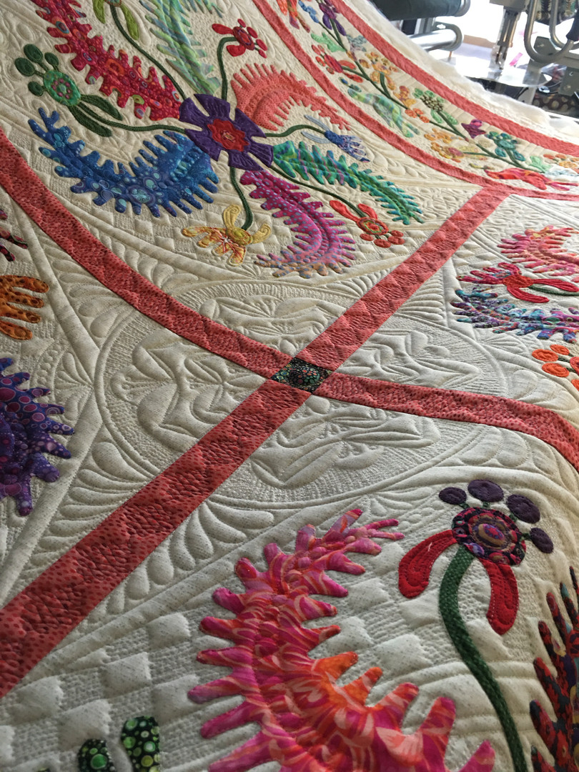 Custom princess feathers quilt