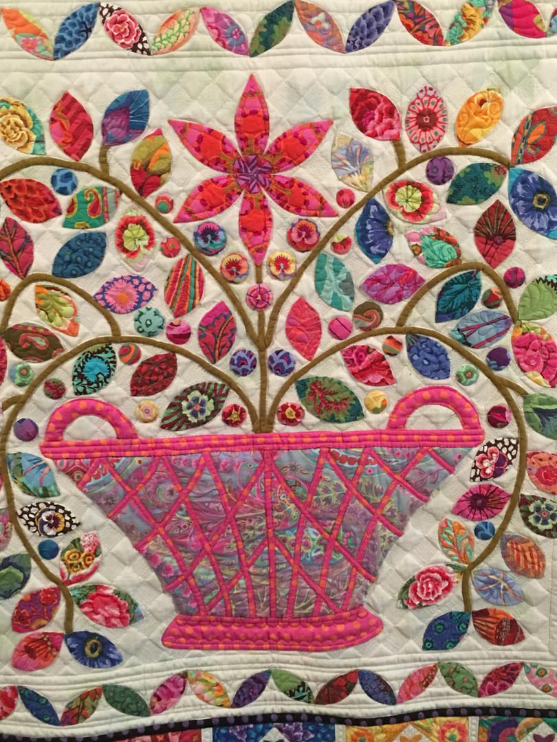 Custom Kaffe Fasset basket quilt