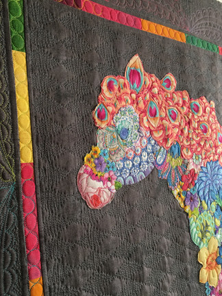 Custom flower horse wall hanging