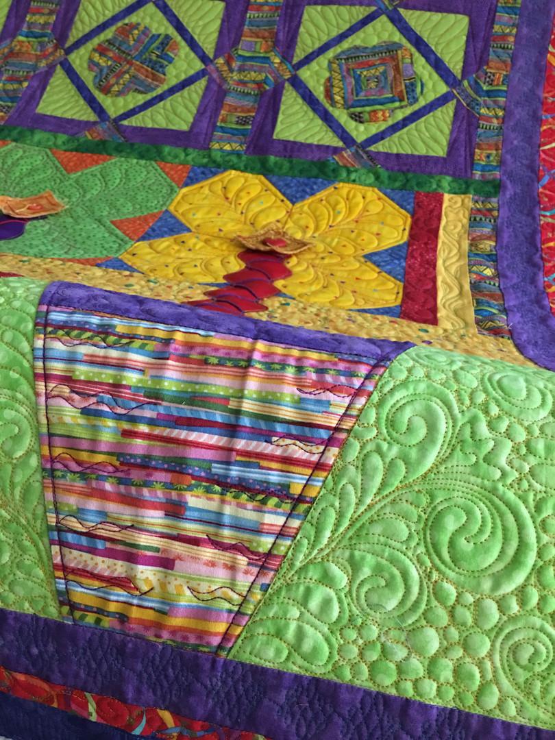 Custom row-to-row quilt
