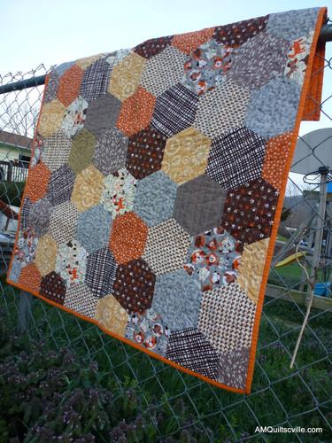 Custom hexi baby quilt