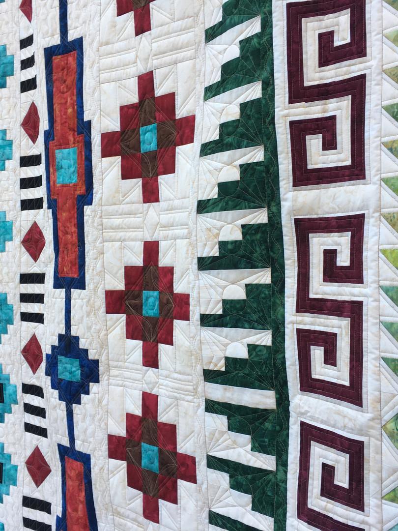 Custom Southwestern style quilt