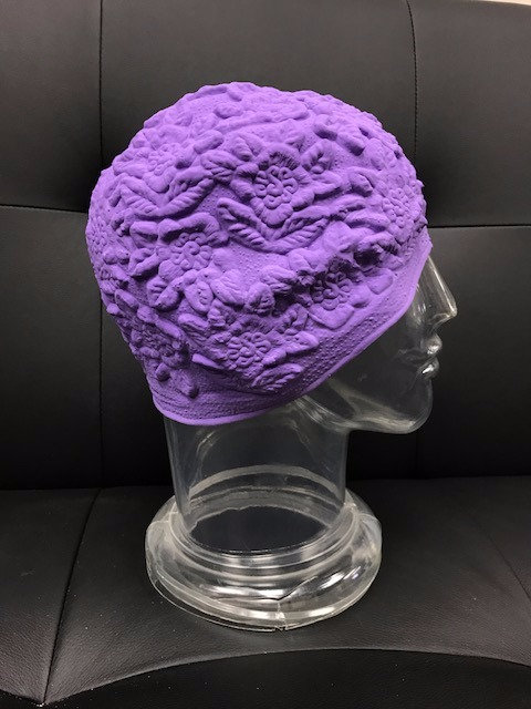 Molded Floral Swim Cap #5069