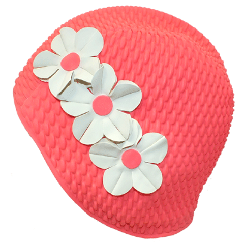 Triple Flower Swim Cap #50107