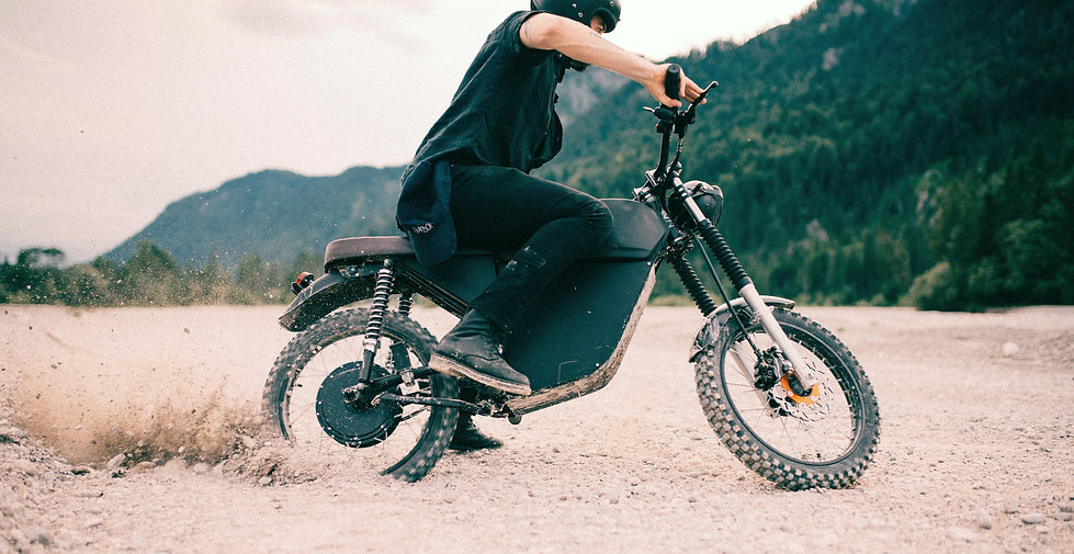 Electric Scrambler | Black Tea Motorbikes | Vintage electric moped