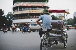 Tour de cyclo pousse à Hanoi