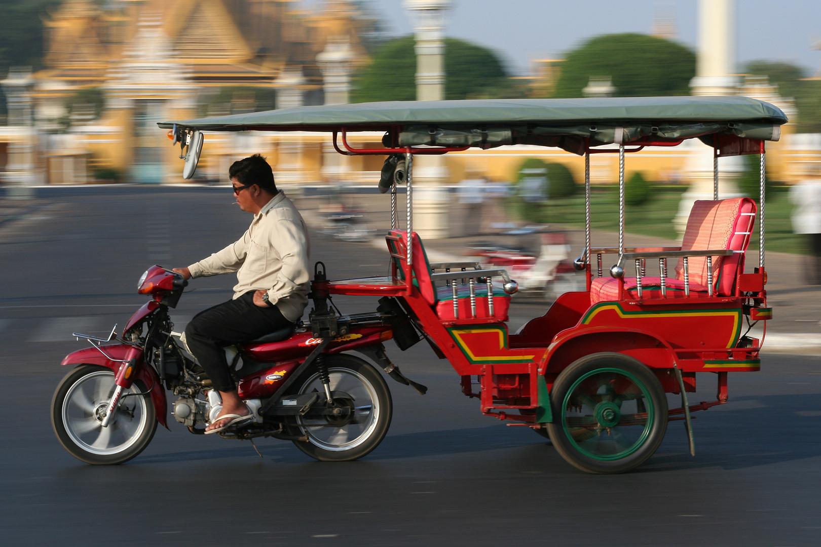 Tuk-tuk à Phnom Penh