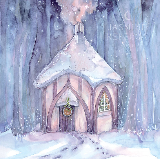 Cosy Yule Cottage Print
