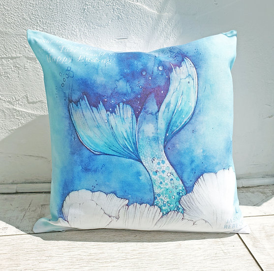 Every Tail Mermaid Quote Cushion