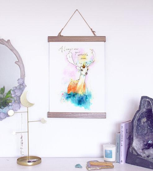 Deer Print & hanger