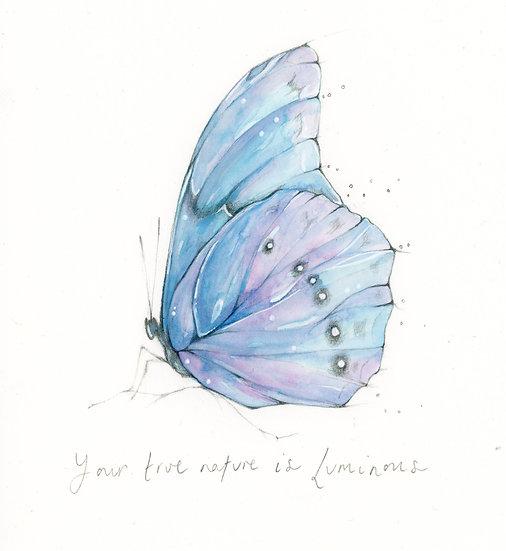 Original Your True Nature is Luminous Watercolour